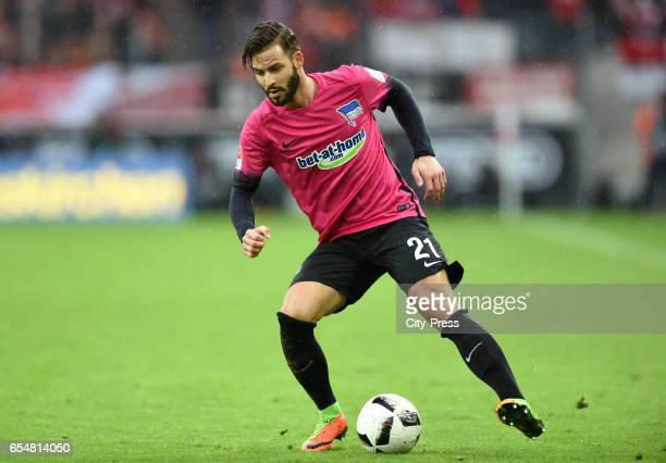 Marvin Plattenhardt of Hertha BSC during the game between dem 1 FC Koeln and Hertha BSC on march 18 2017 in Koeln Germany