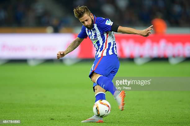 Marvin Plattenhardt of Hertha BSC during the game between Hertha BSC and Werder Bremen on August 21 2015 in Berlin Germany