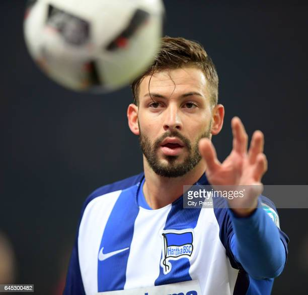 Marvin Plattenhardt of Hertha BSC during the game between Hertha BSC and the Eintracht Frankfurt on february 25 2017 in Berlin Germany
