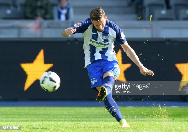 Marvin Plattenhardt of Hertha BSC during the game between Hertha BSC and FC Augsburg on April 9 2017 in Berlin Germany