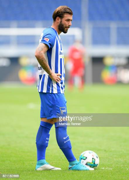 Marvin Plattenhardt of Hertha BSC during the game between Malaga CF and Hertha BSC on july 22 2017 in Duisburg Germany
