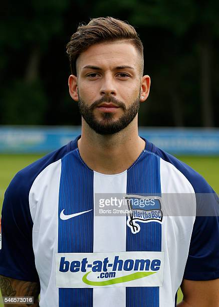 Marvin Plattenhardt of Hertha BSC poses during the Hertha BSC Team Presentation on July 12 2016 in Berlin Germany