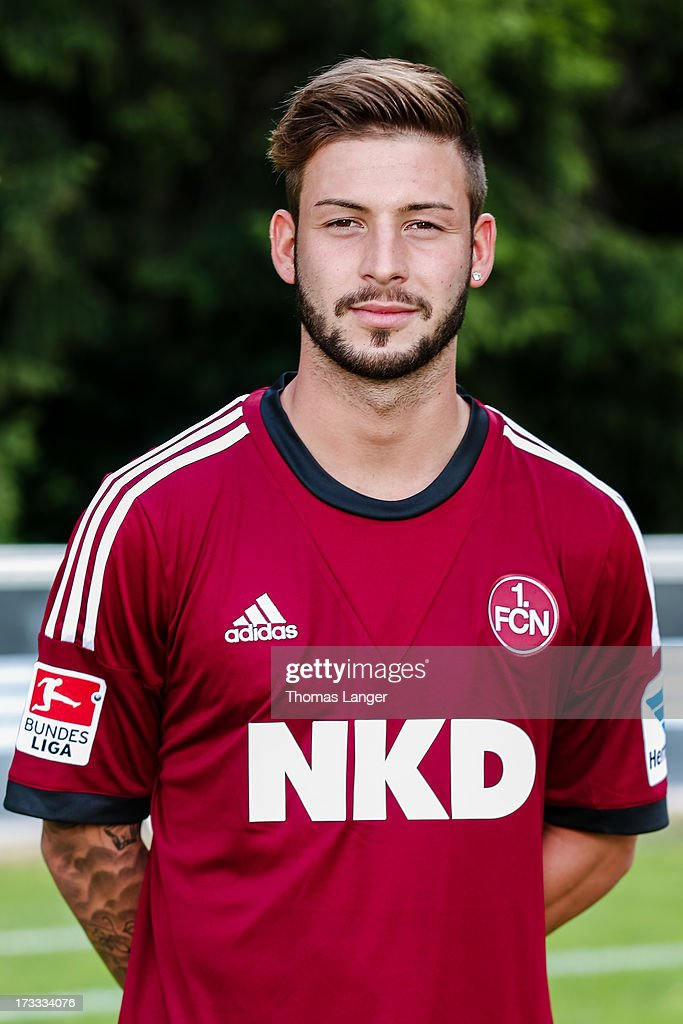 Marvin Plattenhardt poses during the FC Nuernberg team presentation at Sportpark Valznerweiher on July 9 2013 in Nuremberg Germany