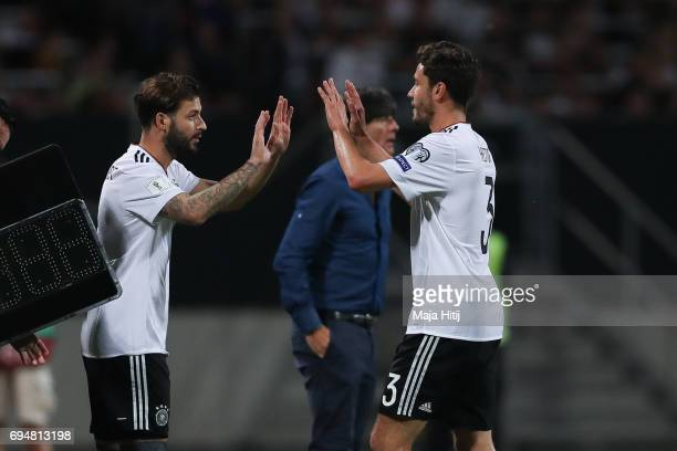 Marvin Plattenhardt substitues Jonas Hector of Germany during the FIFA 2018 World Cup Qualifier between Germany and San Marino on June 10 2017 in...