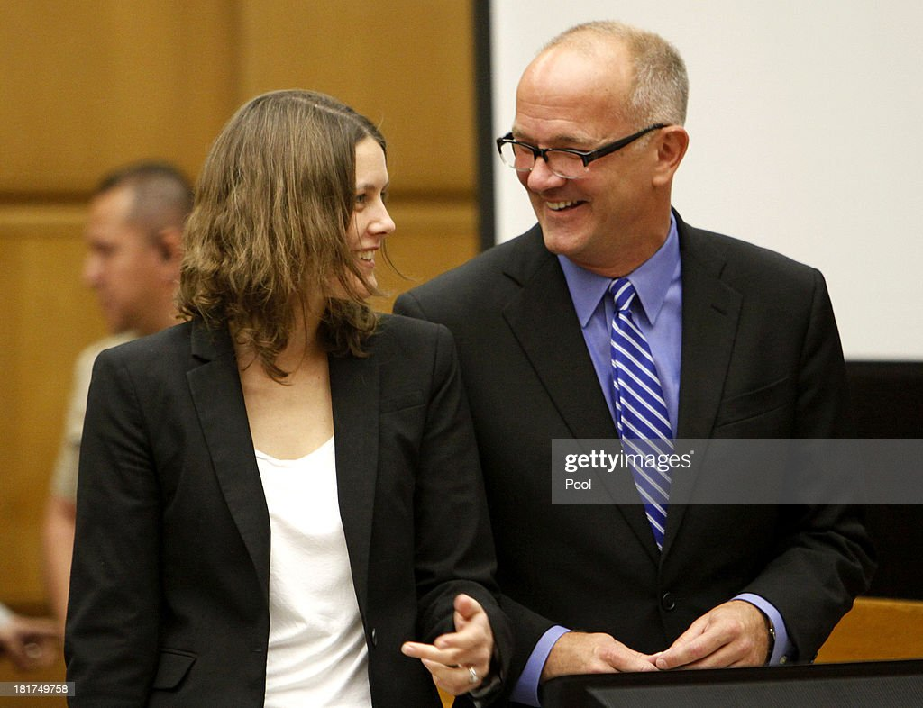 Marvin Putnam, lead attorney for AEG, right with Jessica Stebbins-Bina, attorney for AEG during closing arguments in the Michael Jackson lawsuit against concert promoter AEG Live LLC September 24, 2013 in downtown Los Angeles. Final arguments began today in the Michael Jackson wrongful death case which alledges that entertainment conglomerate AEG is liable in the pop star's 2009 death.