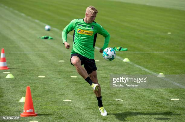 Marvin Schulz during a training session of Borussia Moenchengladbach at BorussiaPark on June 26 2017 in Moenchengladbach Germany
