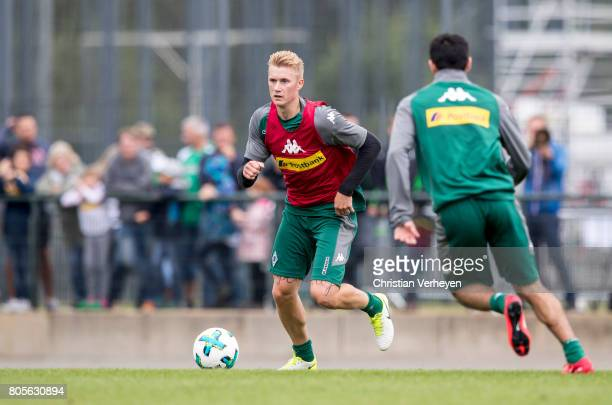 Marvin Schulz during a training session of Borussia Moenchengladbach at BorussiaPark on July 02 2017 in Moenchengladbach Germany