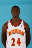 Marvin Williams of the Atlanta Hawks poses for a portrait during NBA Media Day at Philips Arena on October 2 2006 in Atlanta Georgia NOTE TO USER...