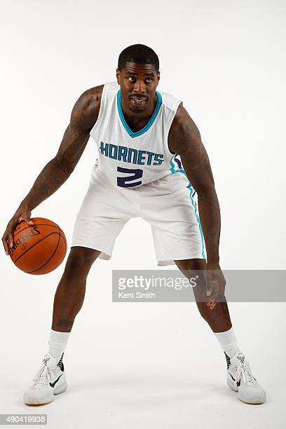 Marvin Williams of the Charlotte Hornets poses for media day at the Time Warner Cable Arena on February 4 2015 in Charlotte North Carolina NOTE TO...