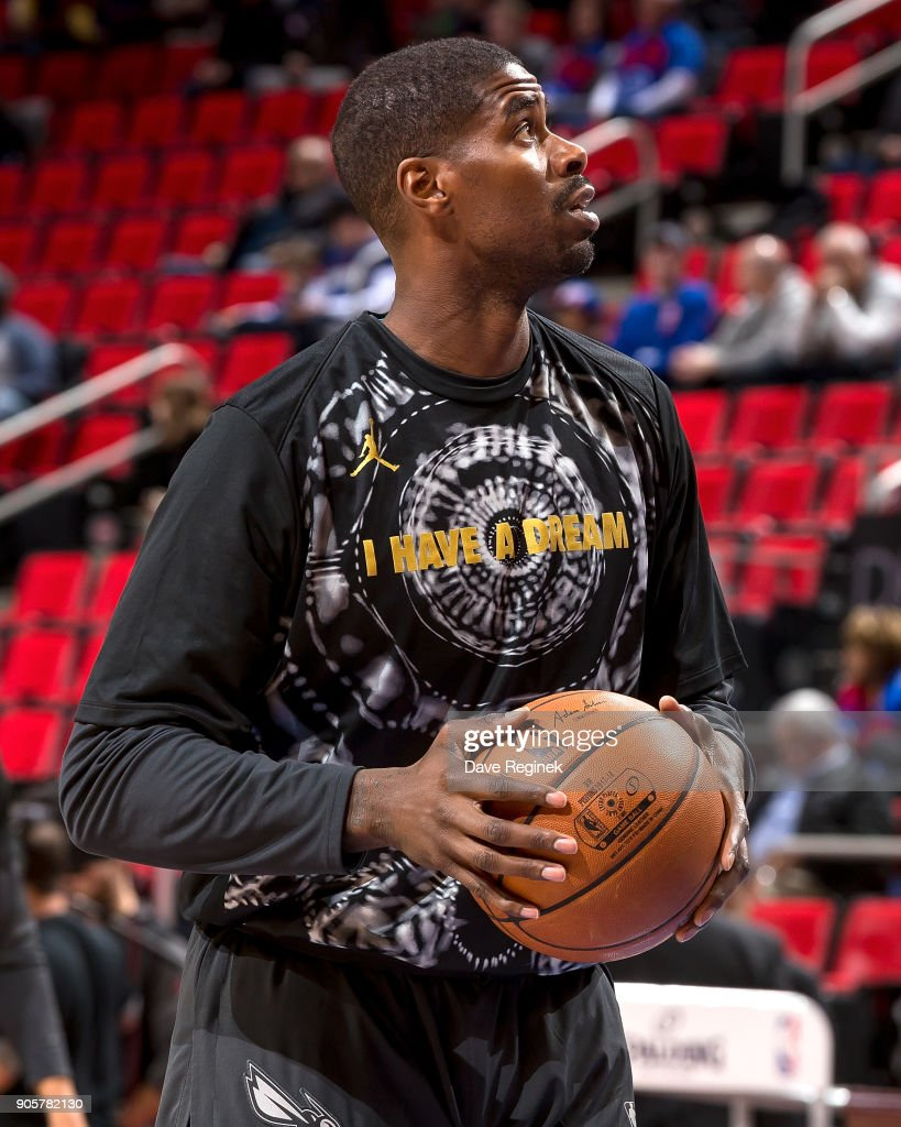 Marvin Williams #2 of the Charlotte Hornets warms up before the an NBA game against the Detroit Pistons at Little Caesars Arena on January 15, 2018 in Detroit, Michigan.