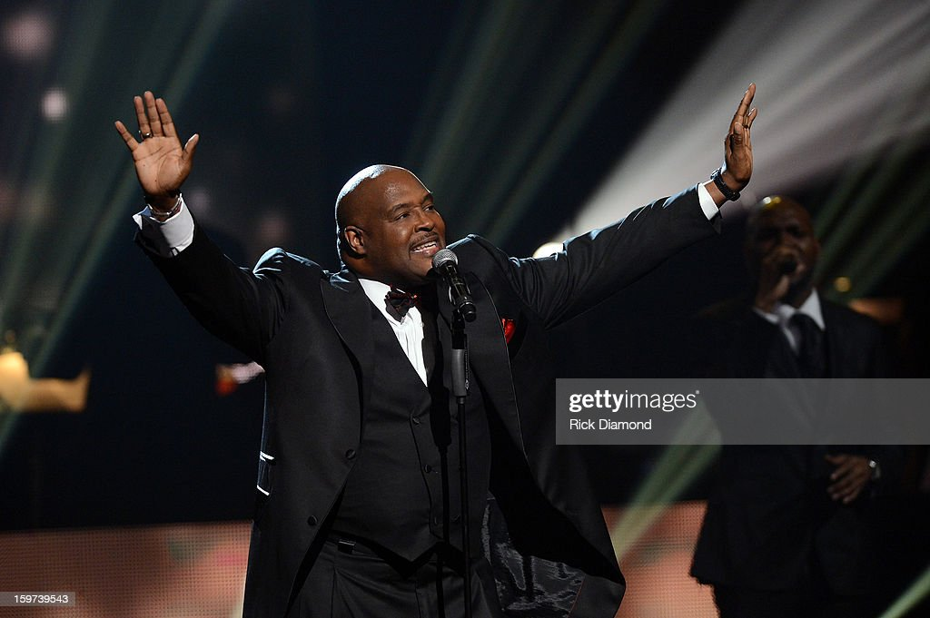 Marvin Winans performs during the 28th Annual Stellar Awards Show at Grand Ole Opry House on January 19, 2013 in Nashville, Tennessee.