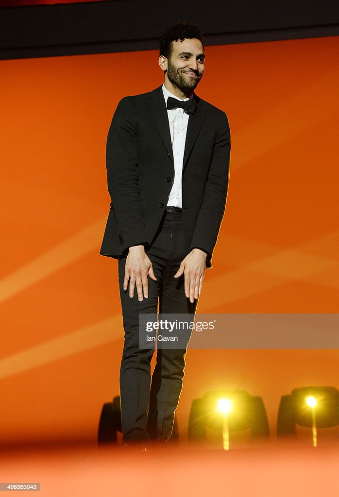 Marwan Kenzari on stage at the Shooting Stars stage presentation during the 64th Berlinale International Film Festival at the Berlinale Palast on February 10, 2014 in Berlin, Germany.