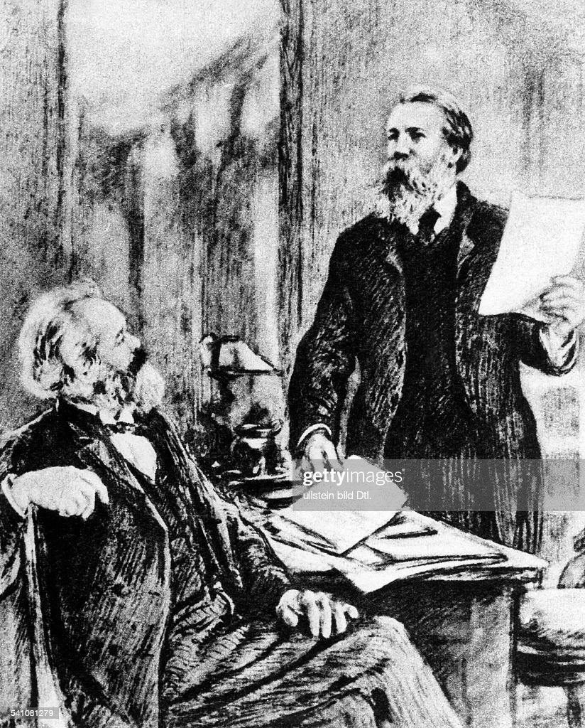 Marx Karl *0505181814031883Philosoph Revolutionaer D mit Friedrich Engels undatiert