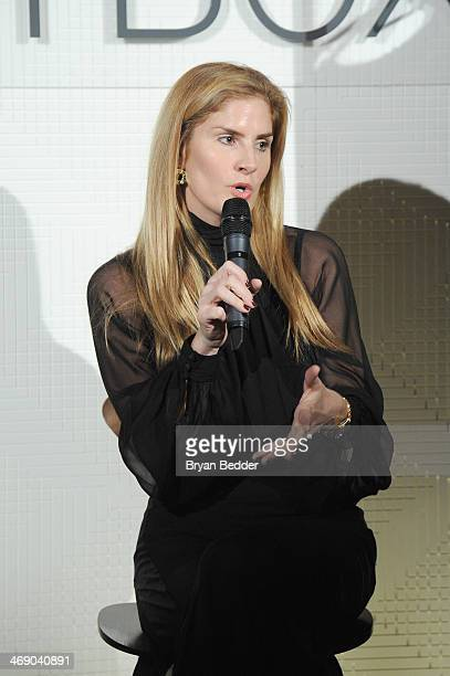 Mary Alice Haney attends the American Express Skybox at Mercedes Benz Fashion Week Fall 2014 at Lincoln Center on February 12 2014 in New York City