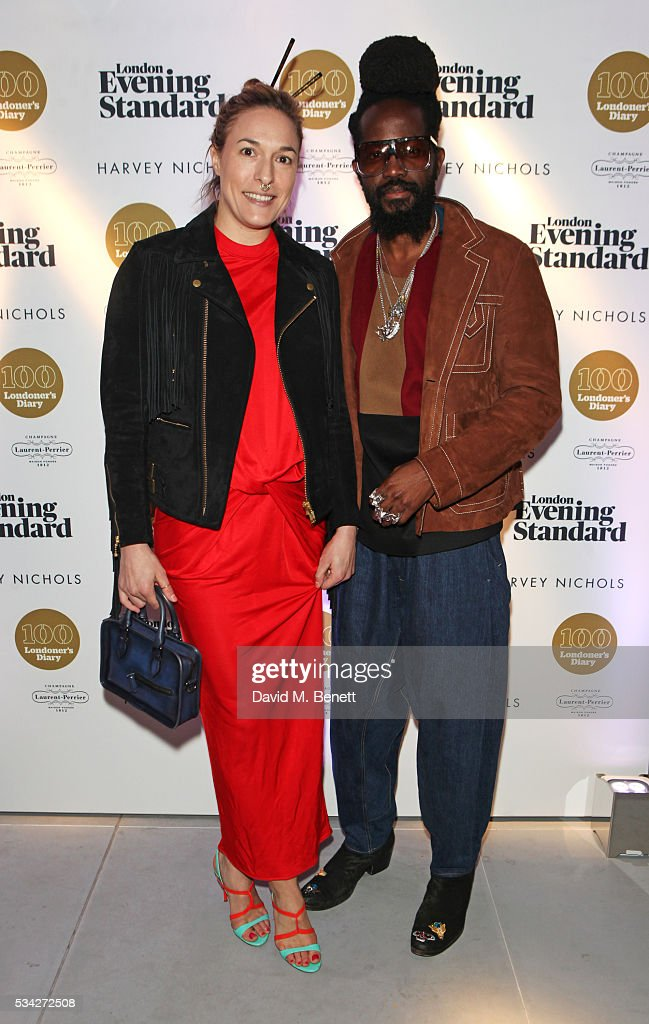 Mary Alice Malone (L) and Roy Luwolt attend the London Evening Standard Londoner's Diary 100th Birthday Party in partnership with Harvey Nichols at Harvey Nichols on May 25, 2016 in London, England.