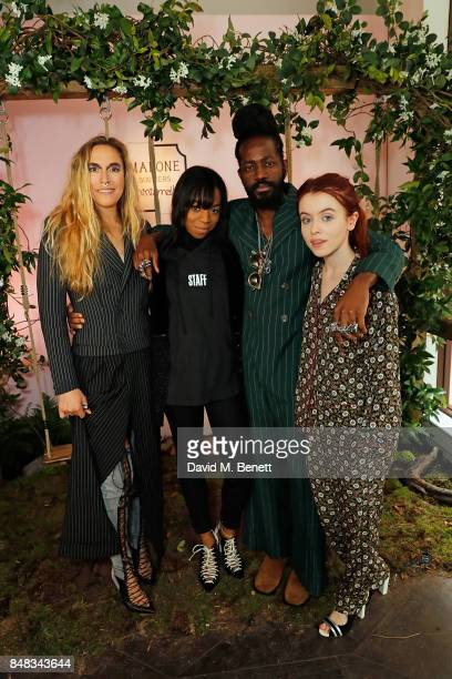 Mary Alice Malone Pippa BennettWarner Roy Luwolt and Rosie Day attend the Malone Souliers London Fashion Week SS18 Presentation on September 17 2017...
