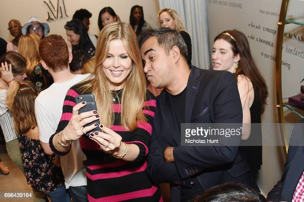 Mary Alice Stephenson and Bibhu Mohapatra attends the Monica Vinader x GLAM4GOOD Get Your Glam On Party on June 15 2017 in New York City