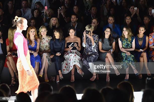 Mary Alice Stephenson Bella Thorne Sklyer Samuels Cara Santana Analeigh Tipton Jessica Lowndes Gillian Jacobs and Jamie Chung attend the Monique...