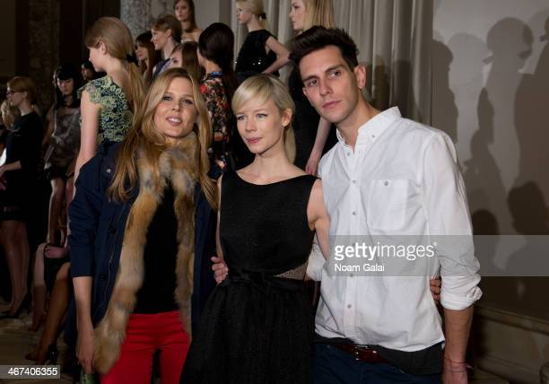 Mary Alice Stephenson Erin Fetherston and Gabe Saporta attend the Erin Fetherston presentation during MercedesBenz Fashion Week Fall 2014 at W Union...
