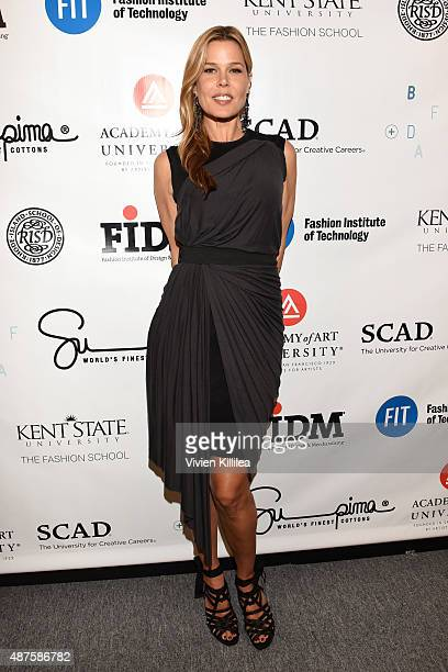 Mary Alice Stephenson poses backstage at the Supima Design Competition fashion show during Spring 2016 New York Fashion Week The Shows at The Gallery...
