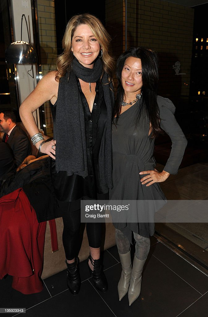 Mary Amons (L) and guest attend the Worldview Entertainment 2011 Holiday Party at William Beaver House on December 8, 2011 in New York City.