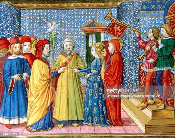 Mary and Joseph's Wedding Codex of Predis Royal Library Turin Italy