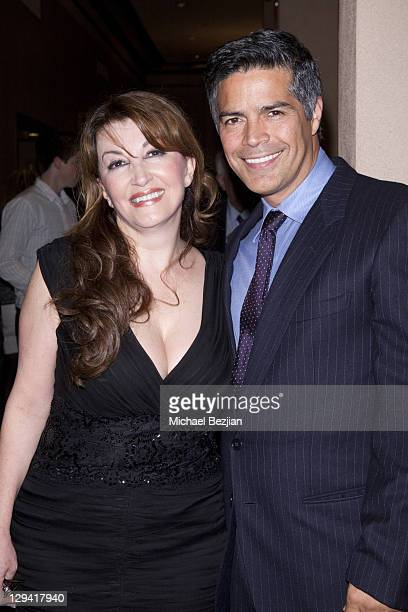 Mary Apick and Esai Morales at 'Beneath The Veil' Post Play Reception at Alex Theatre on March 11 2011 in Glendale California