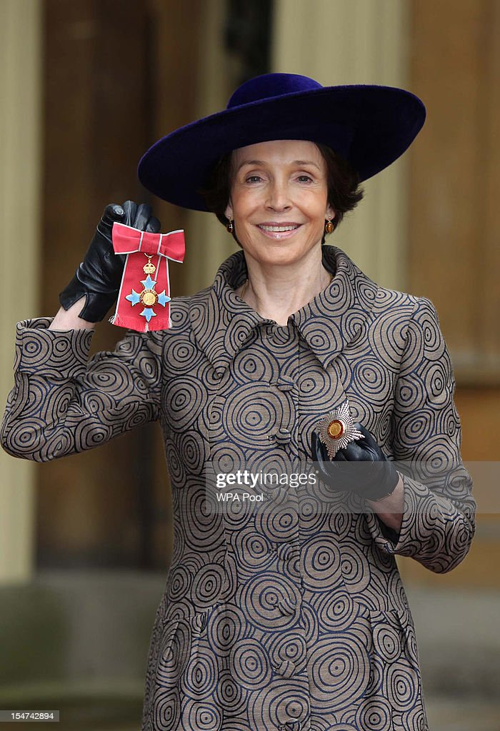Mary Archer poses after she was made a Dame at a Royal Investiture ceremony at Buckingham Palace on October 25, 2012 in London, England.