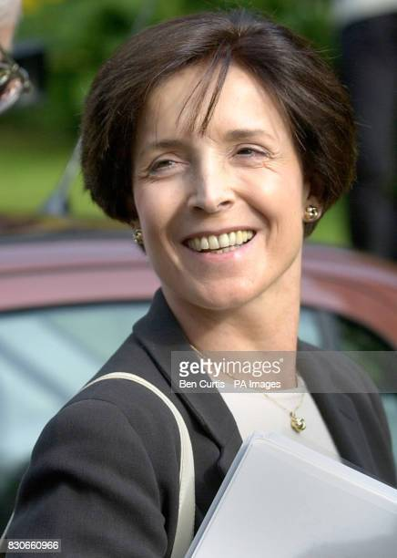 Mary Archer the wife of disgraced Tory peer Lord Archer smiles as she arrives at Strathclyde University in Glasgow where she was taking part in...
