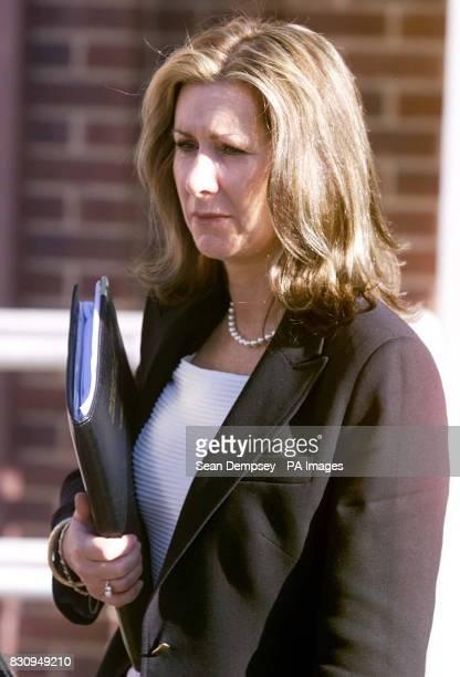 Mary Archer's former personal assistant Jane Williams leaving the Employment Tribunal in Bury St Edmunds Suffolk The wife of disgraced peer Lord...