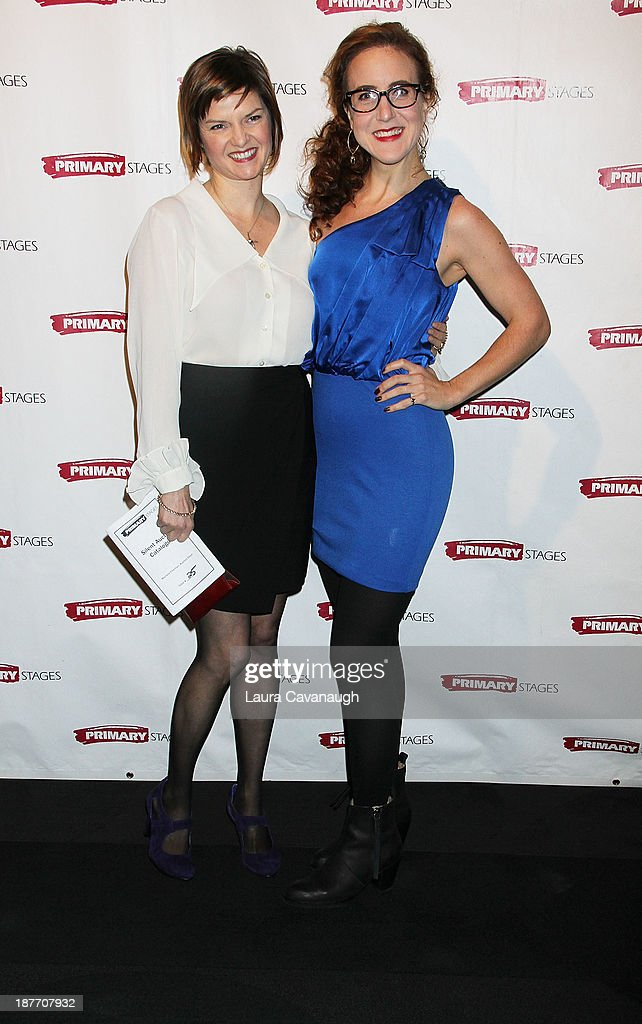 Mary Bacon and Jenn Harris attend the 2013 Primary Stages Annual Gala at The Edison Ballroom on November 11, 2013 in New York City.