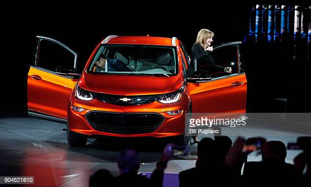 DETROIT MI Mary Barra Chairman and CEO of General Motors and Mark Reuss Executive Vice President of GM Global Product Development reveal the...