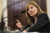 Mary Barra Chief Executive Officer of General Motors speaks during a hearing of the Senate Commerce Science and Transportation Committee's Consumer...