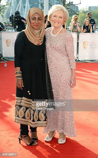 Mary Berry and Nadiya Hussain attend the House Of Fraser British Academy Television Awards 2016 at the Royal Festival Hall on May 8 2016 in London...