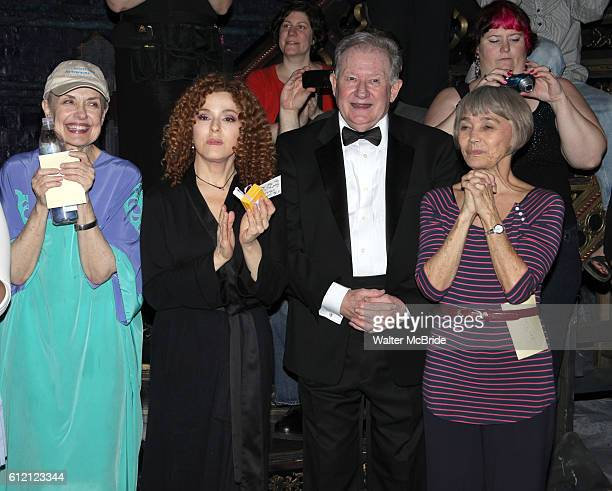 Mary Beth Peil Bernadette Peters Harvey Evans Susan Watson attending the Opening Night Gypsy Robe Ceremony for 'Follies' Recepient Jennifer Foote at...