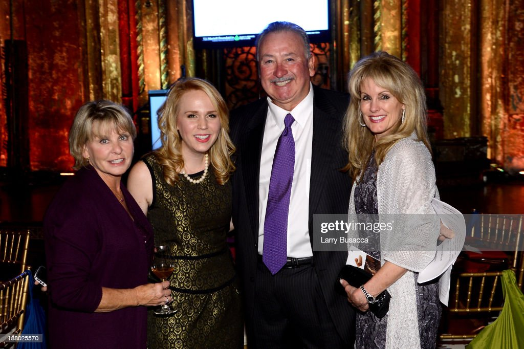 Mary Beth Treadway (L), Robert Treadway and Laura Heatherly, CEO of the T.J. Martell Foundation (R) attend T.J. Martell Foundation's Annual World Tour of Wine Dinner at The Angel Orensanz Foundation on November 14, 2013 in New York City.