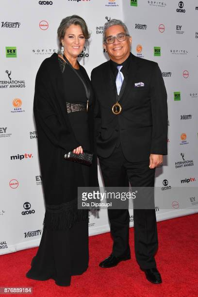 Mary BlackSuarez and Leonardo Aranguibel of Hasta que te Conoci of nonenglish language US primetime program attends the 45th International Emmy...