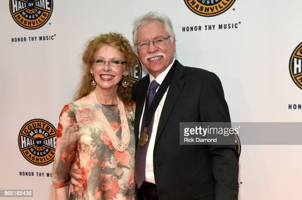 Mary Bonsall and Joe Bonsall of The Oak Ridge Boys attend the Medallion Ceremony to celebrate 2017 hall of fame inductees Alan Jackson Jerry Reed And...