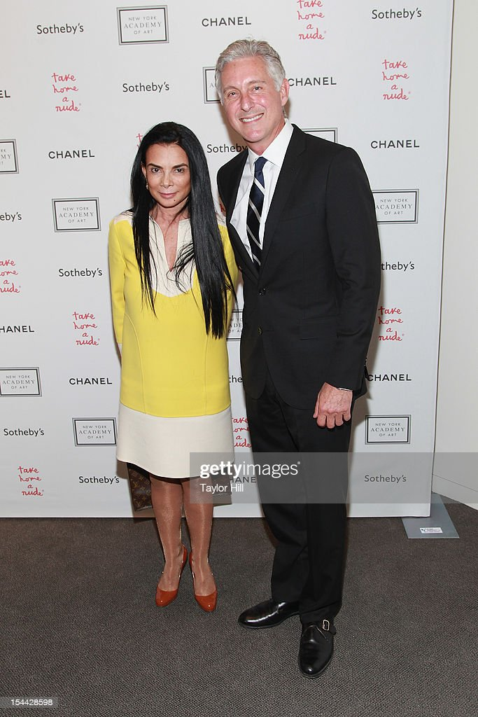 Mary Boone and David Kratz attend the 2012 Take Home a Nude Benefit Art Auction at Sotheby's on October 18, 2012 in New York City.