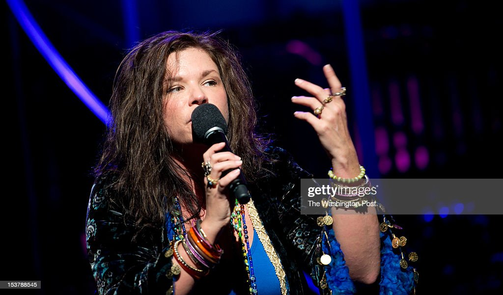Mary Bridget Davies, plays Janis Joplin. 'One Night With Janis Joplin' plays at Arena Stage. It is created, written and directed by Randy Johnson and plays September 28 to November 4, 2012.