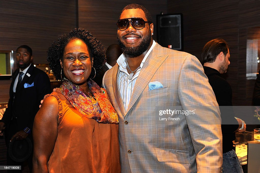 Mary Brown and Chris Baker are seen at the David Yurman Meteorite Launch With Chris Baker on October 15, 2013 in Mclean, Virginia.