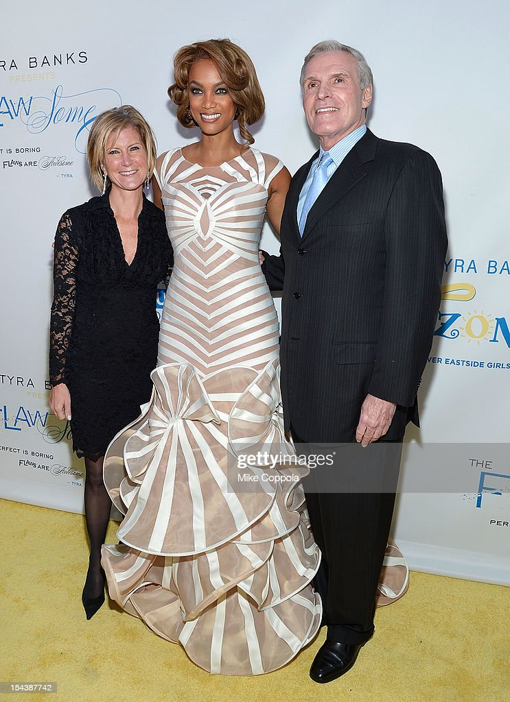 Mary Callahan Erodes, Tyra Banks, and Ray Chambers attend The Flawsome Ball For The Tyra Banks TZONE at Capitale on October 18, 2012 in New York City.