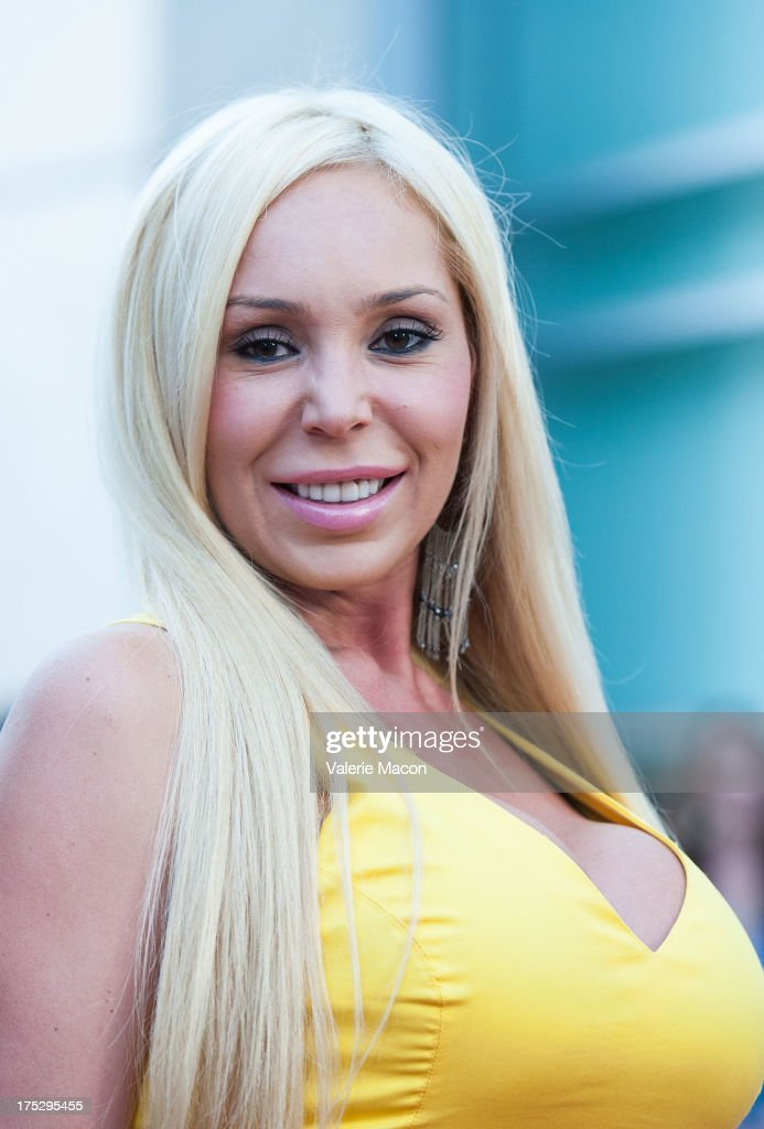 Mary Carey arrives at the Screening Of Magnolia Pictures' 'I Give It A Year' at ArcLight Hollywood on August 1, 2013 in Hollywood, California.
