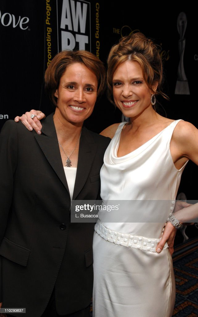 Mary Carillo and Hannah Storm during 32nd Annual American Women in Radio Television Gracie Allen Awards Inside at Marriott Marquis in New York City...