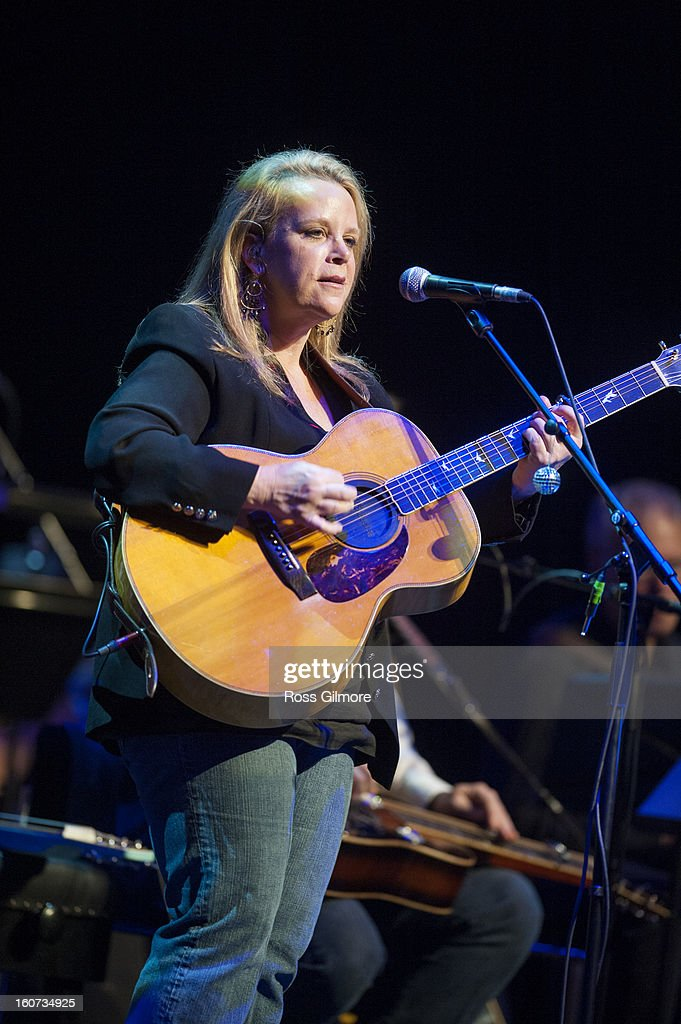 Mary Chapin Carpenter performs on stage as part of Transatlantic Sessions at Celtic Connections Festival 2013 at Glasgow Royal Concert Hall on February 1, 2013 in Glasgow, Scotland.
