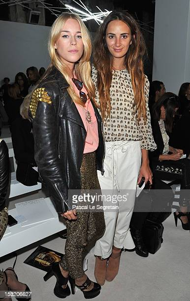 Mary Charteris and Alexia Niedzielski attend the Giambattista Valli Spring / Summer 2013 show as part of Paris Fashion Week on October 1 2012 in...