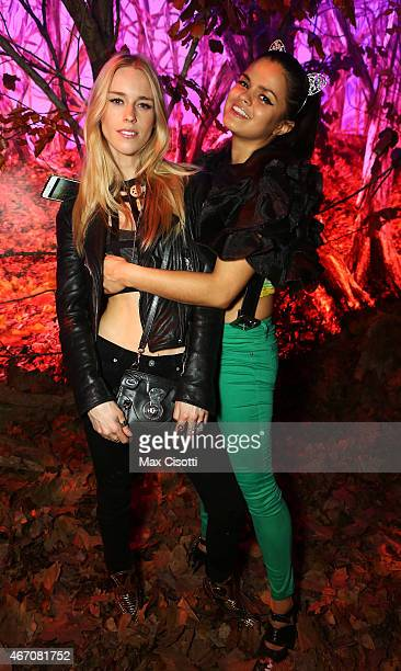 Mary Charteris and Bip Ling pose in the Forest Room while attending the Closing Party of The Buta Festival at Royal Academy of Arts on March 20 2015...