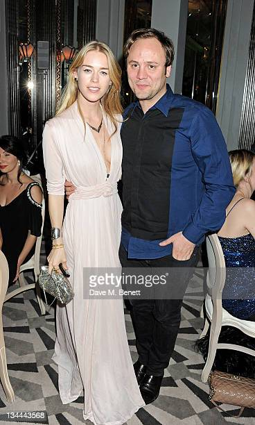 Mary Charteris and Nicholas Kirkwood attend the Leon Max Winter Dinner and Dance for 'Too Many Women' in support of Breakthrough Breast Cancer at...