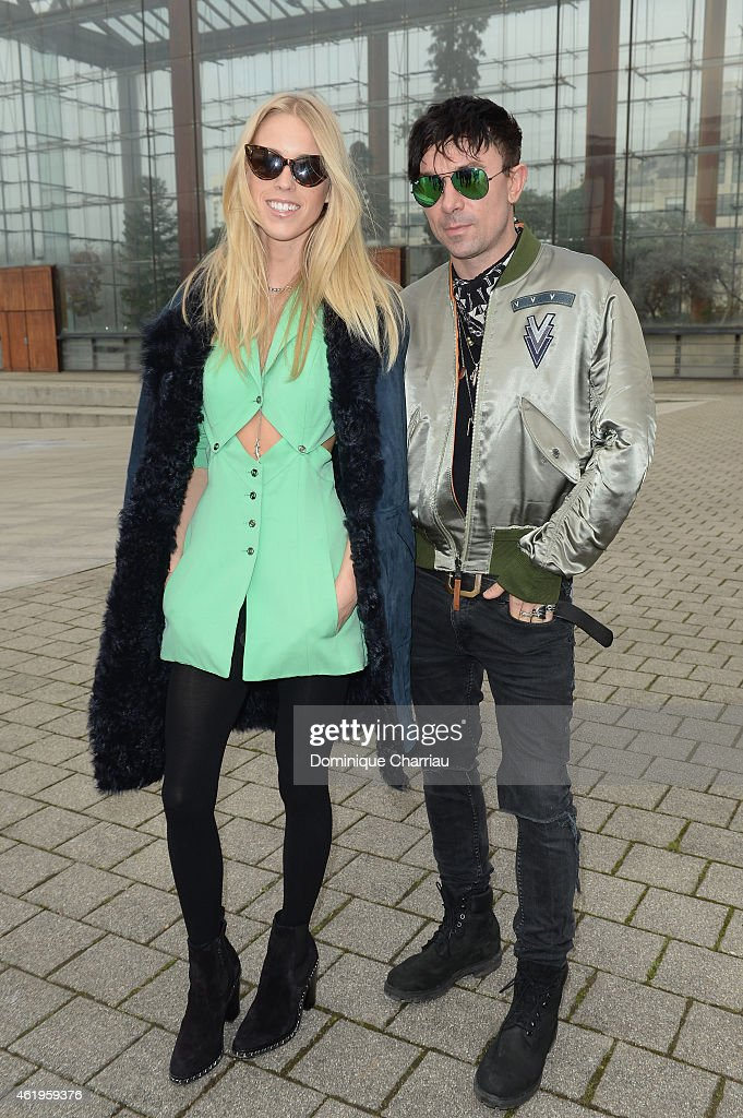 Mary Charteris and Robbie Furze attend the Louis Vuitton Menswear Fall/Winter 20152016 Show as part of Paris Fashion Week on January 22 2015 in Paris...