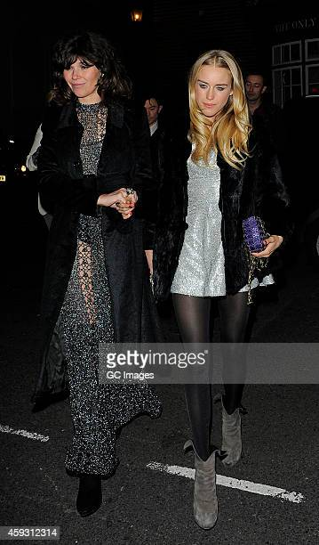 Mary Charteris arrives at Mark's Member's Club for AnOther Man Party on November 20 2014 in London England